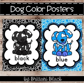 Dog Color Posters