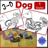 Dog Craft 3D Coloring Activity