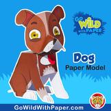 Dog Craft Activity | 3D Paper Model