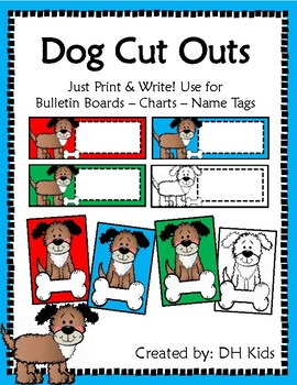 Dog Cut Outs - Brights