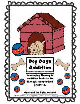 Dog Days Addition:  Addition fluency to 10