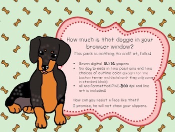 Dog Days - Clip Art and Digital Paper Pack - {for personal and commercial use}