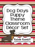 Dog Days Puppy Theme Classroom Decor Set