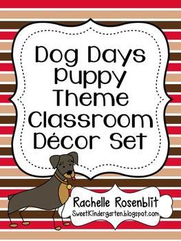 Dog Days Puppy Theme Classroom Decor Set