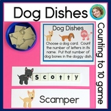 Dog Dishes: Counting to 10 Game
