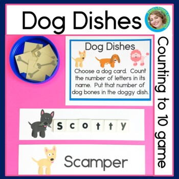 Counting to 10 Game with Dog Dishes