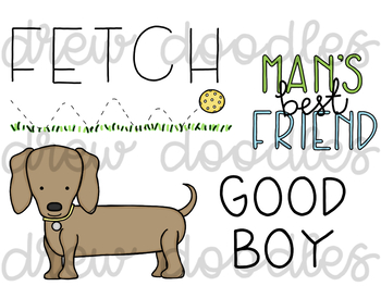 Dog Doodles Digital Clip Art Set