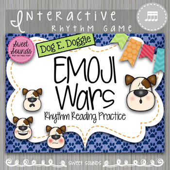Dog E Doggie Emoji Wars 4 Sixteenth Notes Takadimi {Interactive Rhythm Game}