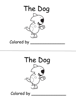 Dog Emergent Reader: Color & B/W, Sight words: the, can