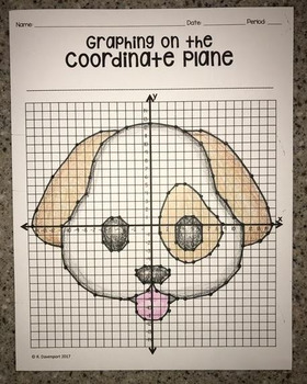 Dog Face Emoji (Graphing on the Coordinate Plane/ Mystery Picture)