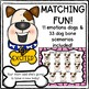 Dog FEELINGS & EMOTIONS Scenarios Matching Game!