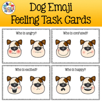 Feelings and Emotions Task Cards Dogs