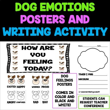 Dog Feelings Posters and Writing