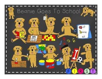 Back to School Dog Clip Art
