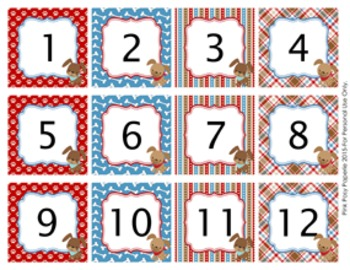 Dog Gone Cute Classroom Decor Monthly Calendar Numbers