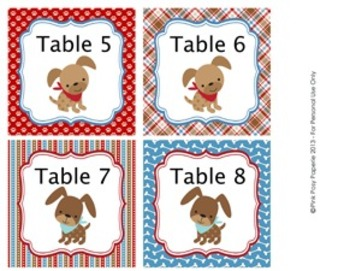 Dog Gone Cute Classroom Decor Table Numbers