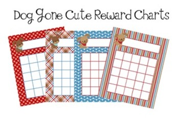 Dog Gone Cute Incentive Reward Charts