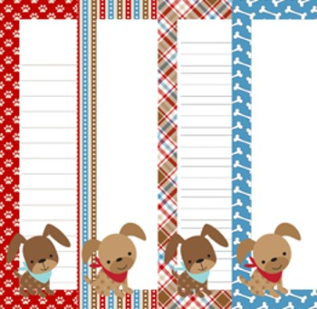 Dog Gone Cute Writing Paper - 3 Styles - 4 Designs