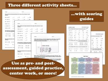 Dog-Gone Decimals – decimal estimation task cards & printables (set b)