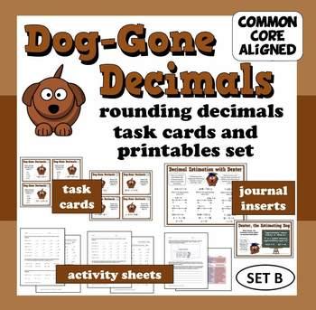 Dog-Gone Decimals – decimal estimation task cards & printa