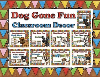 Dog Gone Fun Classroom Decor Bundle