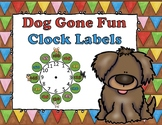 Dog Gone Fun Clock Labels and Clock Schedules