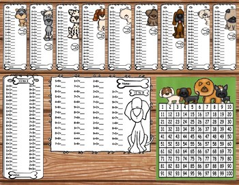 Dog Gone Fun Math Fact Fluency Unit