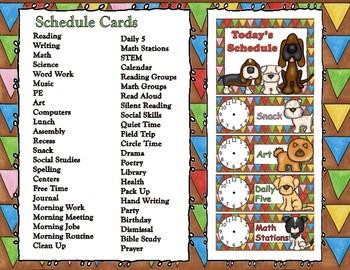 Dog Gone Fun Schedule Cards