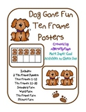 Dog Gone Fun Ten Frame Posters