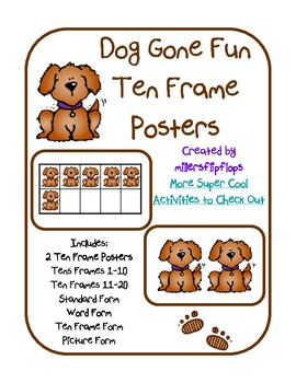Dog Gone Fun Ten Frame Posters