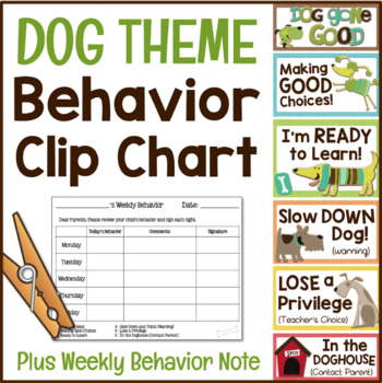 Behavior Chart - Dog Themed Clip Chart