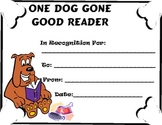 Dog Gone Good Reader Reading Certificate