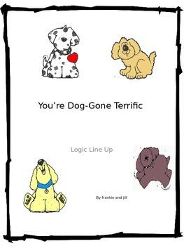 Dog Gone Terrific Logic Line Up NO PREP!!! Common Core