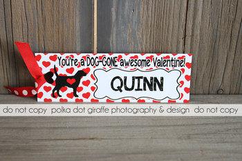 Dog-Gone Valentine Bookmark - Dog Bookmark