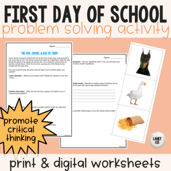 Dog, Goose, and Corn Scientific Method Problem Solving Practice
