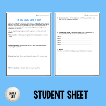 First Day of School Problem Solving Activity