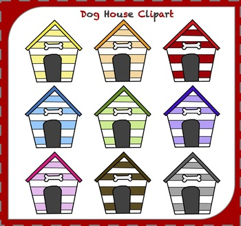 Dog House Clipart / Dog Clipart / Animal Clipart