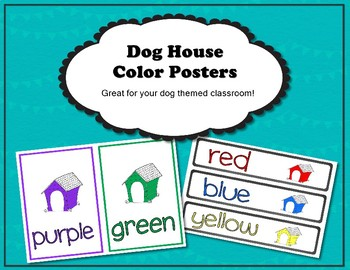 Dog House Color Posters