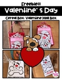 Cereal Box Dog House Valentine Mail box Freebie