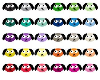 Dog Kawaii  - Clipart - 30 colors - 30 PNG files - Pet clipart - Dog clipart