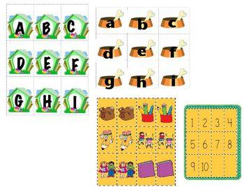 Kindergarten letter/number Match