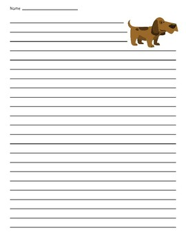 Dog Lined Paper