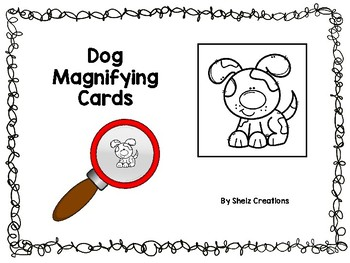 Dog Magnifying Glass Cards