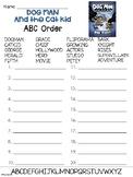 Dog Man Book 4 ABC Order Worksheet
