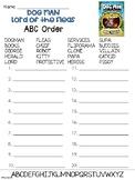 Dog Man Book 5 ABC Order worksheet