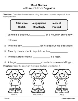 Dog Man Lesson Plans (Book Club Format - Role of Illustrations in a Story)