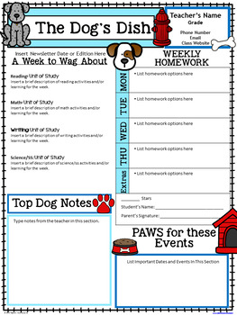 Dog Newsletter Template
