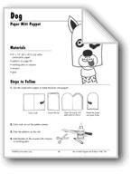 Dog Paper Mitt Puppet
