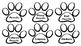 Dog Paw Print Classroom Supply Labels
