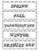 Dog Paw-Print Holiday/Seasonal Tote Labels